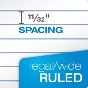 "TOPS™ The Legal Pad™ Legal Pad, 8-1/2"" x 11-3/4"", White, Legal/Wide Rule, 50 Sheets per Pad, 12/Pack (7533)"