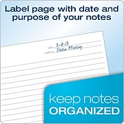 "Tops® FocusNotes® Steno Pad, 6"" x 9"", White, 80 Sheets/Pad (90222)"