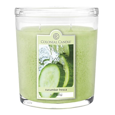 Colonial Candle 22 oz. Oval Jar, Cucumber Fresca, 1/Pack (CC0002177)