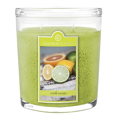 Colonial Candle 22 oz. Jar, Citrus Woods, 1/Pack (CC0224648)