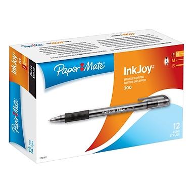 Papermate® Inkjoy 300ST Ballpoint Pens, 0.7mm, Black, 12/Pack
