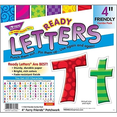 TREND Friendly Combo Ready Letters, 4