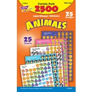 TREND superShapes Stickers Variety Pack, Animals, 2500/Pack
