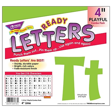 TREND Playful Combo Ready Letters, 4