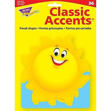 TREND Classic Accents, Sun, 36/Pack