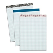 "TOPS Single Fashion Writing Pad, 8-1/2"" x 11-3/4"", Quad-Ruled, White, 50 Sheets"