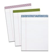 "TOPS Single Fashion Writing Pad, 8-1/2"" x 11-3/4"", Wide-Ruled, White, 50 Sheets"