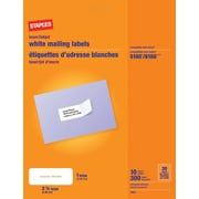 "Staples® White Mailing Labels for Inkjet/Laser Printers, 2-5/8"" x 1"", 300/Pack"