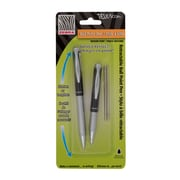 Zebra® Telescopic Ballpoint Pen, Retractable, 1.0mm, Black, 2/Pack