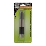 Zebra F-402 Ballpoint Pen, Retractable, 0.7mm, Black, 2/Pack