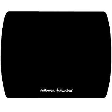 Fellowes® Ultra Thin XL Mouse Pad with Microban Protection, Black, (5910701)