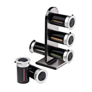 Honey-Can-Do Zero Gravity Wall-Mounted Spice Rack with 6 Canisters