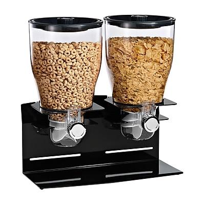 Honey Can Do KCH-06148 Comm. Plus Edition Dbl Dispenser-Blk/Ch