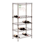 Honey Can Do SHF-02922 Chrome Wine Rack