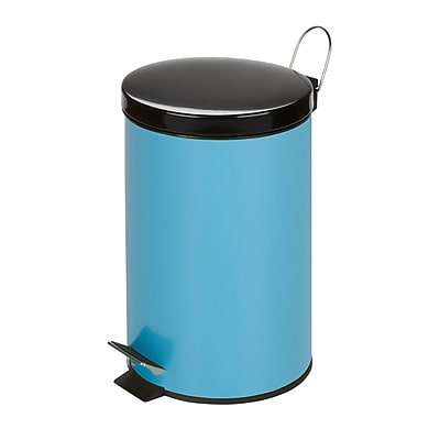 Honey Can Do TRS-03552 Colored Metal Trash Can - Blue