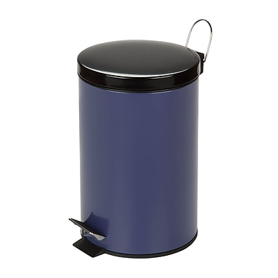 Honey Can Do TRS-03553 Colored Metal Trash Can - Purple