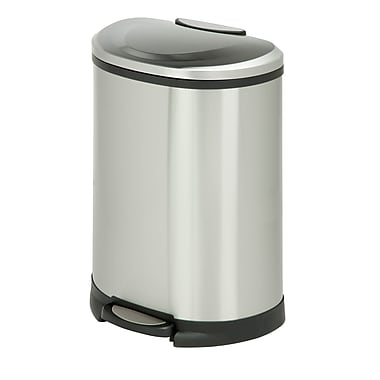 Honey-Can-Do 50L Trash Can, Stainless (TRS-05306)