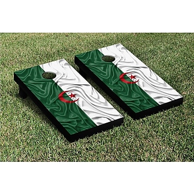Victory Tailgate Country Rippled Flag Cornhole Game Set; Tajikistan