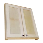 WG Wood Products Shaker Series 29'' x 37.5'' Surface Mount Medicine Cabinet; 3.25''