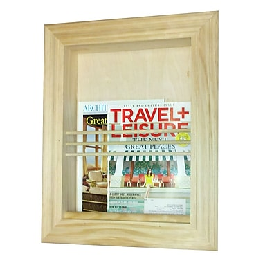 WG Wood Products Traditional Recessed Magazine Rack