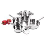 Heuck Stainless Steel 7 Piece Cookware Set