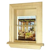WG Wood Products In the Wall Magazine Rack