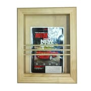 WG Wood Products Bevel Frame Recessed Magazine Rack
