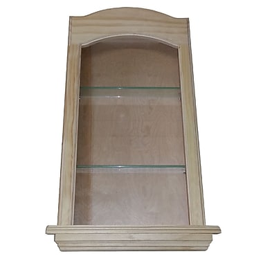 WG Wood Products Curve Top in the Wall Cove 2 Shelf Niche; 29''