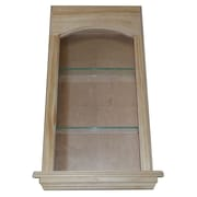 WG Wood Products Standard in the Wall Cove 2 Shelf Niche; 29''