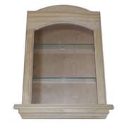 WG Wood Products Curve Top in the Wall Cove 2 Shelf Niche; 23''