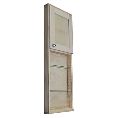 WG Wood Products Shaker Series 15'' x 43.5'' Wall Mounted Cabinet