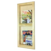WG Wood Products Double Bevel Frame Recessed Magazine Rack