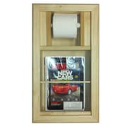 WG Wood Products Recessed Magazine Rack and Toilet Paper Holder Combo