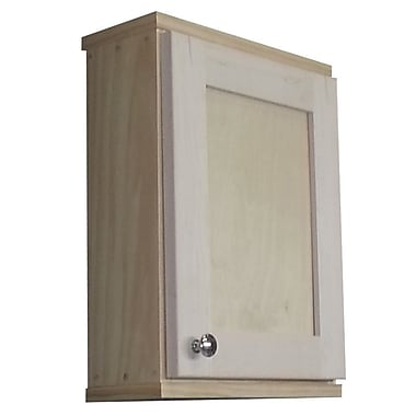 WG Wood Products Shaker Series 15'' x 19.5'' Wall Mounted Cabinet