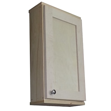 WG Wood Products Shaker Series 15'' x 25.5'' Wall Mounted Cabinet