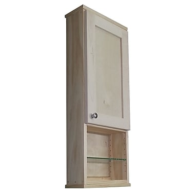 WG Wood Products Shaker Series 15'' x 31.5'' Wall Mounted Cabinet