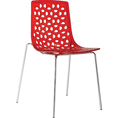 Aeon Furniture Contemporary Dakota Side Chairs (Set of 2); Red