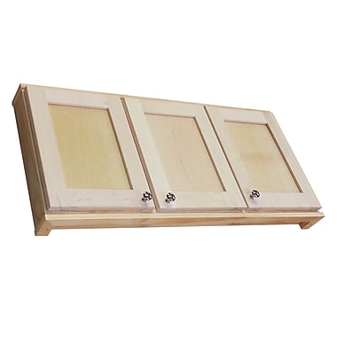 WG Wood Products Shaker Series 43'' x 19.5'' Wall Mounted Cabinet
