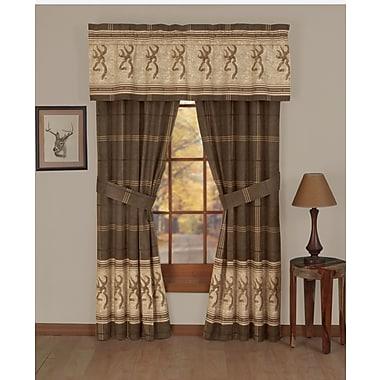 Browning Buckmark Lined Rod Pocket Curtain Panels (Set of 2)