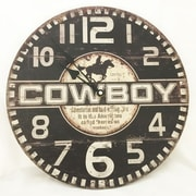 Creative Motion 13.38'' Cowboy Clock