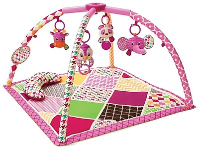 Infantino Sweet Safari Twist and Fold Activity Gym and Play Mat WYF078279107486