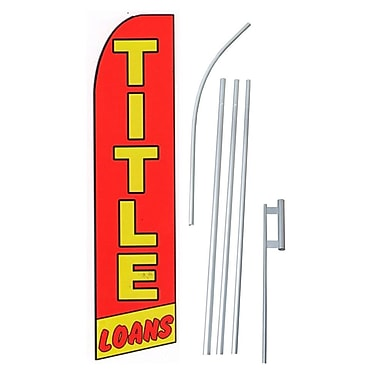 NeoPlex Title Loans Swooper Flag and Flagpole Set