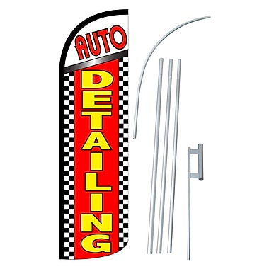 NeoPlex Auto Detailing Swooper Flag and Flagpole Set
