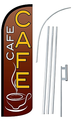 NeoPlex Cafe Swooper Flag and Flagpole Set