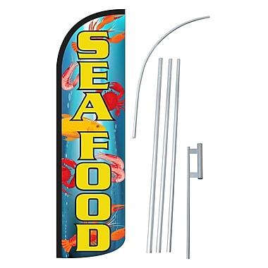 NeoPlex Seafood Swooper Flag and Flagpole Set