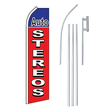 NeoPlex Auto Stereo Swooper Flag and Flagpole Set