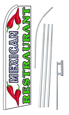 NeoPlex Mexican Restaurant Swooper Flag and Flagpole Set WYF078279108811