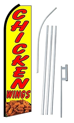 NeoPlex Chicken Wings Swooper Flag and Flagpole Set