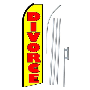 NeoPlex Divorce Swooper Flag and Flagpole Set