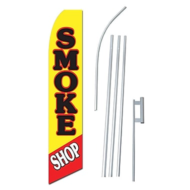 NeoPlex Smoke Shop Pipe Swooper Flag and Flagpole Set